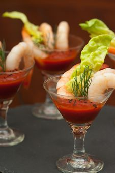 Free Shrimp Cocktails Royalty Free Stock Photos - 27139068