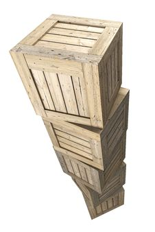 Free Wooden Crates Stock Images - 27140054