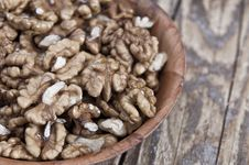 Free Walnut In Wooden Bowl Stock Photo - 27140110
