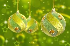 Free Christmas Baubles Royalty Free Stock Image - 27141036