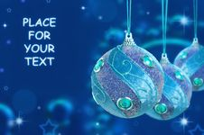 Free Christmas Baubles Royalty Free Stock Image - 27141116