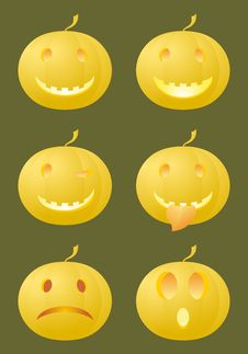 Free Halloween Smiles Royalty Free Stock Photo - 27141195