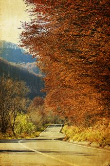 Free Colorful Autumn In The Mountains Royalty Free Stock Photo - 27143335