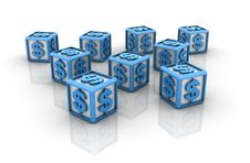 Free Dollar Sign Cubes Stock Photo - 27143880