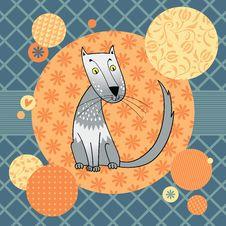 Free Gray Spotty Cat Royalty Free Stock Photography - 27146827