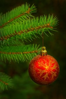 Free Christmas Ball. Royalty Free Stock Image - 27147266
