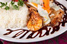 Free Rice And Shrimp Dish Royalty Free Stock Photo - 27148685