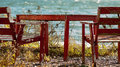 Free Worn Table Stock Photo - 27154910