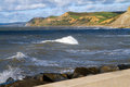 Free Dorset Coastline From West Bay Harbour Wall Stock Photo - 27155740