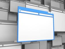Free Blue Computer Window. Stock Image - 27154861