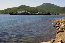 Sea Mooring Stock Photo