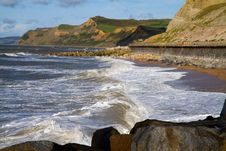 Free West Bay Beach Dorset Royalty Free Stock Photography - 27155647
