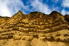 Sandstone Cliffs And Blue Sky Royalty Free Stock Photo