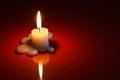 Free Candle On Dark Stock Photos - 27163243
