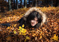 Free Girl And Fallen Autumn Leaves Stock Images - 27163524