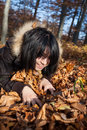 Free Girl In The Autumn Forest Royalty Free Stock Photography - 27163537