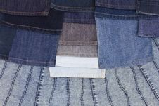 Free Background Leg Jeans Are Stacked. Royalty Free Stock Photo - 27160125