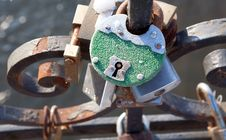 Free Love Padlocks Royalty Free Stock Photography - 27161897
