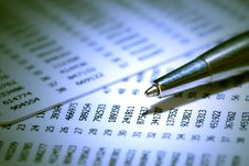 Free Pen And Numbers Stock Image - 27163241