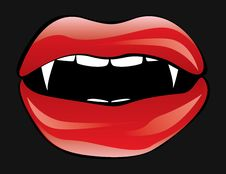 Free Vampire Lips Royalty Free Stock Image - 27164866