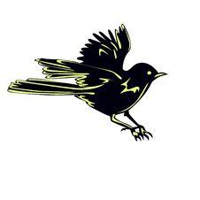 Free Black Bird Sparrow In Flight Stock Photos - 27166153