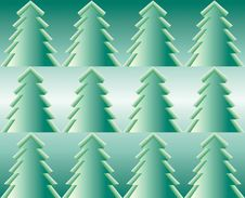 Free Firtrees, Seamless Pattern Stock Photos - 27166423