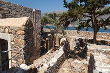 Crete Spinalonga Fortress Greece Stock Photo
