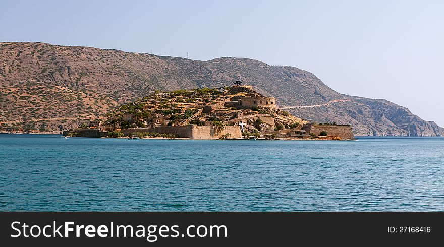 Crete Spinalonga Fortress Greece