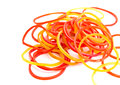 Free Colorful Rubber Bands On White Background Royalty Free Stock Photography - 27170037