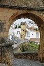 Free Spanish White Town Ronda Near The Old Bridge Royalty Free Stock Photo - 27178325
