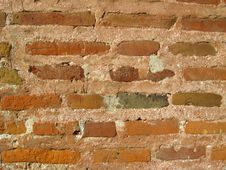 Free Wall From A Red Brick Stock Photo - 27171370