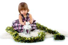 Free Little Girl Playing With Baubles Stock Image - 27172351