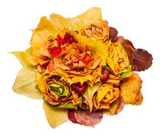 Free Bouquet Of Autumn Leaves Royalty Free Stock Image - 27172566