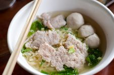 Noodles And Meatball Royalty Free Stock Images