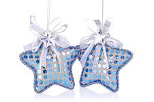 Free Pair Of Christmas Star Decoration. Stock Photo - 27176670