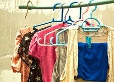 Free Clothesline. Stock Image - 27177081