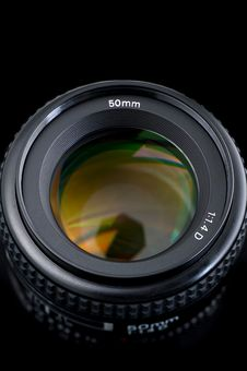 50mm Lens View From The Top. Stock Image