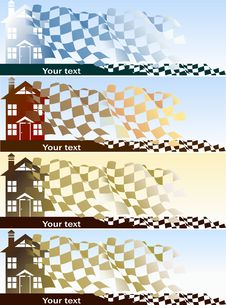 Home Purchase Banners Set Stock Images