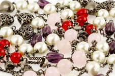 Free Background Of Vintage Beads. Royalty Free Stock Photos - 27179738