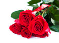 Free Bouquet Of Red Roses Stock Image - 27181991