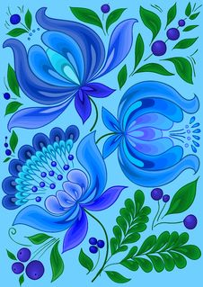 Free Hand-drawn Floral Background Royalty Free Stock Photo - 27181565