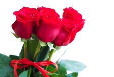 Free Bouquet Of Red Roses Stock Photo - 27182000