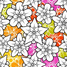 Free Vector Flowers Seamless Background Stock Photo - 27182510