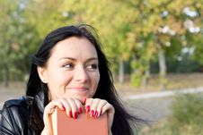 Free Smiling Woman With A Book Stock Photos - 27182733