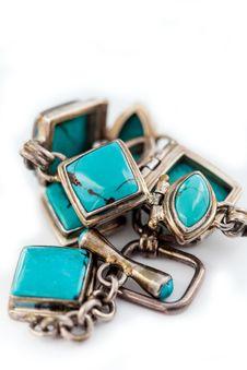 Free Turquoise Bracelet Royalty Free Stock Photo - 27183525