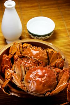 Free Crab And Liqueur Stock Images - 27183624
