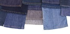 Free Isolates Of Various Leg Jeans. Stock Photos - 27184063