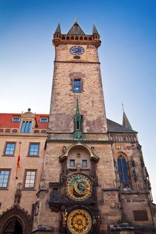 Free Tower With Astronomical Clock Royalty Free Stock Photography - 27185797