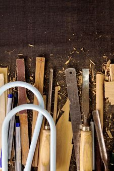 Free Tools-woodcraft Background Royalty Free Stock Images - 27187849