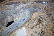 Open Pit Copper Mine Royalty Free Stock Photography